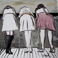 Quadro di Vanessa Katrin  Le amiche