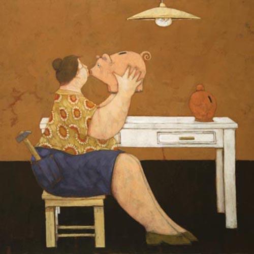 Quadro di Lisandro Rota L'ultimo bacio - Pittori contemporanei galleria Firenze Art