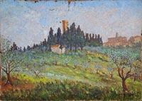 Quadro di Umberto Lorini  Castello Sonnino, Montespertoli