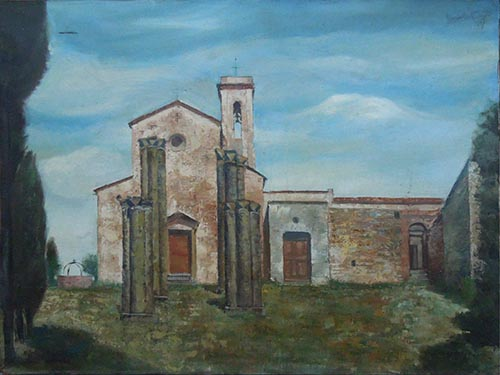 Art work by Giovanni Monti Chiesa di sant'Appiano, Barberino al d'Elsa  - oil canvas