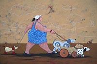 Quadro di Lisandro Rota  The toy dog sitter