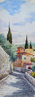 Work of Giovanni Ospitali  Paesaggio di Fiesole