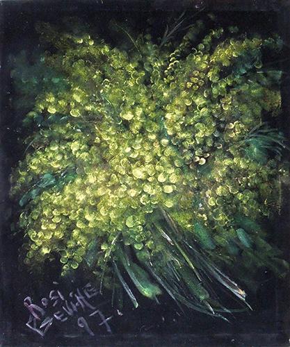 Quadro di Rosi Bevione Mimosa - mista tessuto