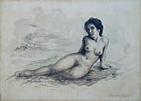Work of Alfonso Grassi - Nudo acrylic canvas