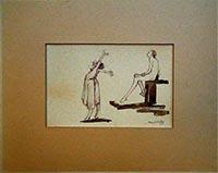 Work of Mario Pachioli - Studio di figure china paper