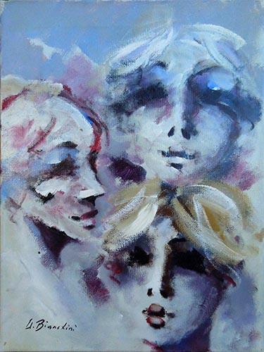 Quadro di Umberto Bianchini Figure - mista tela