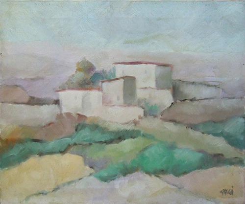 Quadro di Enzo Cangi Paesaggio  - olio tela