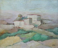 Quadro di Enzo Cangi  Paesaggio