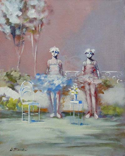 Quadro di Umberto Bianchini Giardino - mista tela