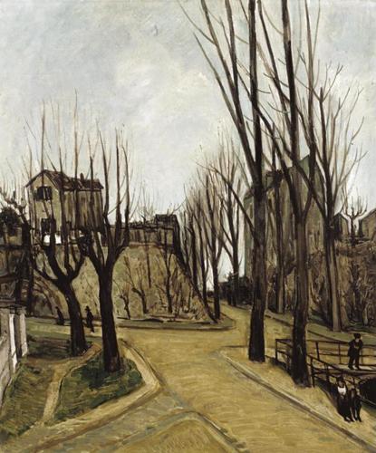 Quadro di Alphonse Leon Quizet Paysage de Maure (Aquitania) - olio tela