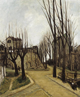 Quadro di Alphonse Leon Quizet  Paysage de Maure (Aquitania)