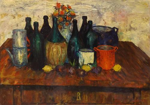 Art work by Leonardo Papasogli Composizione - oil table