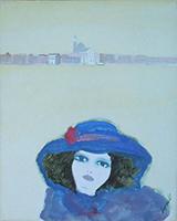 Work of Renato Borsato  Figura con cappello