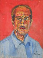 Quadro di Dario Ferrini - Autoritratto olio tela