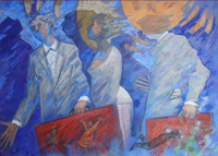Work of Giampaolo Talani  Partenza notturna delle ombre bianche