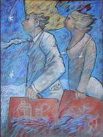 Work of Giampaolo Talani  Partenza di due ombre bianche