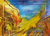Quadro di Beatrice  Santucci - Incandescenza tela con cornice invasa -