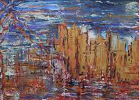 Quadro di Beatrice  Santucci - Manhattan mista tavola