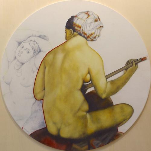 Art work by Danilo Fusi Omaggio ad Ingres - oil canvas