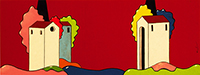 Quadro di Luca Albizi - Rosso mista tela