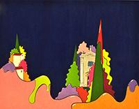 Quadro di Luca Albizi - Le due colline  mista tela