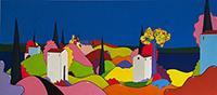 Quadro di Luca Albizi - Dalla mia finestra mista tela