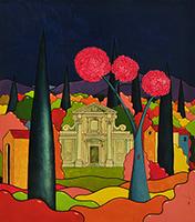 Quadro di Luca Albizi - Prima della notte mista tela