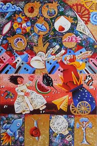 Quadro di Francesco Sammicheli Il colpo di vento - acrilico tavola