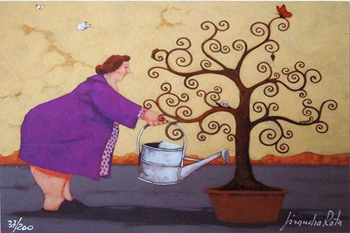 Quadro di Lisandro Rota L'albero della vita  - grafica carta
