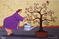 Quadro di Lisandro Rota - L'albero della vita  grafica carta