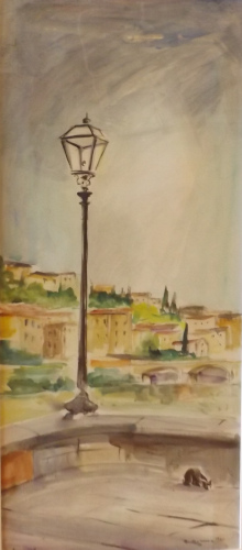 Art work by Rodolfo Marma Angolo sull'Arno - watercolor paper