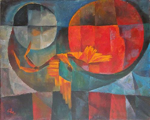 Quadro di Ivan Gongalov Astratto - olio tela
