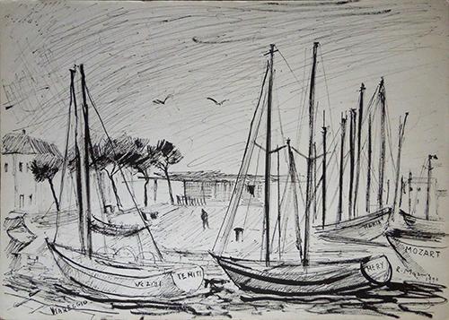 Quadro di Rodolfo Marma Viareggio - china carta