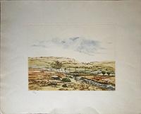 Quadro di Pablo Rojas - Paesaggio litografia carta