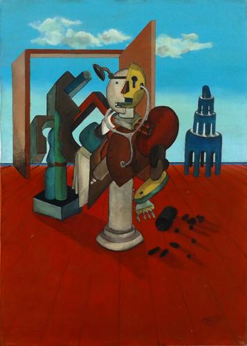 Quadro di Jose Luis Mannucci Marcos L'enigma del medico - olio tela