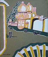 Quadro di Remo Brindisi  - Venezia litografia tavola