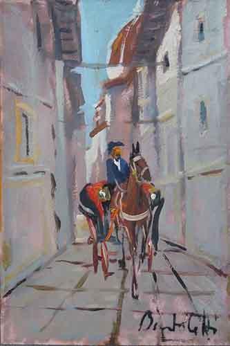 Quadro di  Bartoletti Carrozzella a Firenze - Pittori contemporanei galleria Firenze Art