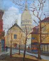 Quadro di  Anonimo - Cattedrale olio tela