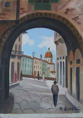 Artwork by  Bocchini, oil on hardboard | Italian Painters FirenzeArt gallery italian painters