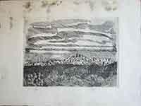 Quadro di firma Illeggibile - Vaglia  litografia carta