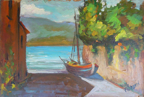 Art work by  Filipponi Barca arenata  - oil hardboard