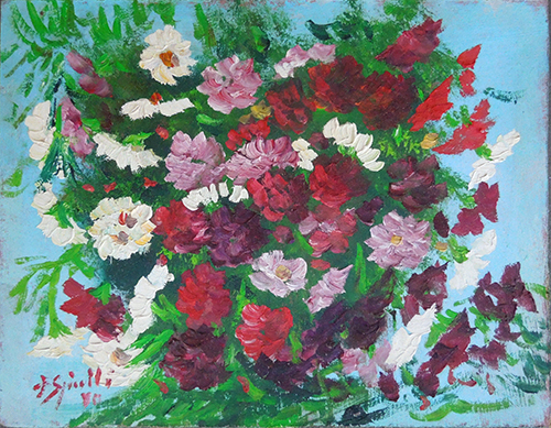 Art work by Pancrazio Spinelli Fiori - oil hardboard