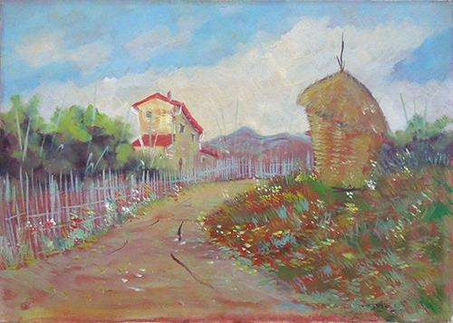 Quadro di Ugo Bini Paesaggio  - olio tela
