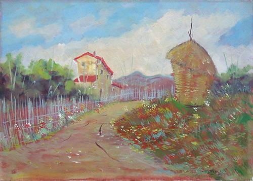 Art work by Ugo Bini Paesaggio  - oil canvas