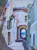 Quadro di Danilo Barachini  Angolo vecchia Genova