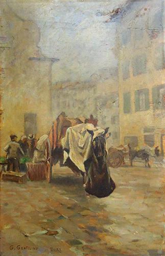 Quadro di Giorgio Gentilini Angolo fiorentino - olio tavola
