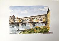 Quadro di Renato Cappelli (Renca)  Ponte Vecchio