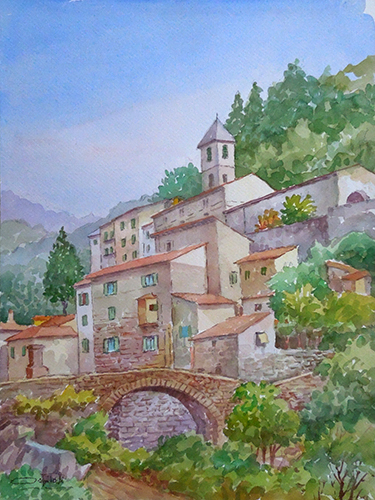 Art work by Giovanni Ospitali Vicino a Pracchia - watercolor paper