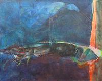Quadro di Berenice  Unikowsky - Senza titolo olio tela