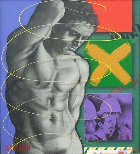 Art work by Milton Wurdig Figura  - mixed hardboard